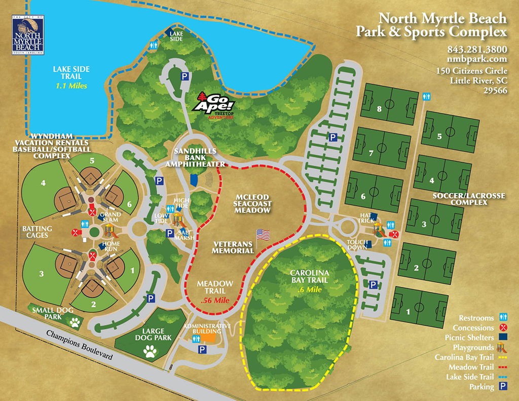 Map of North Myrtle Beach Sports Complex
